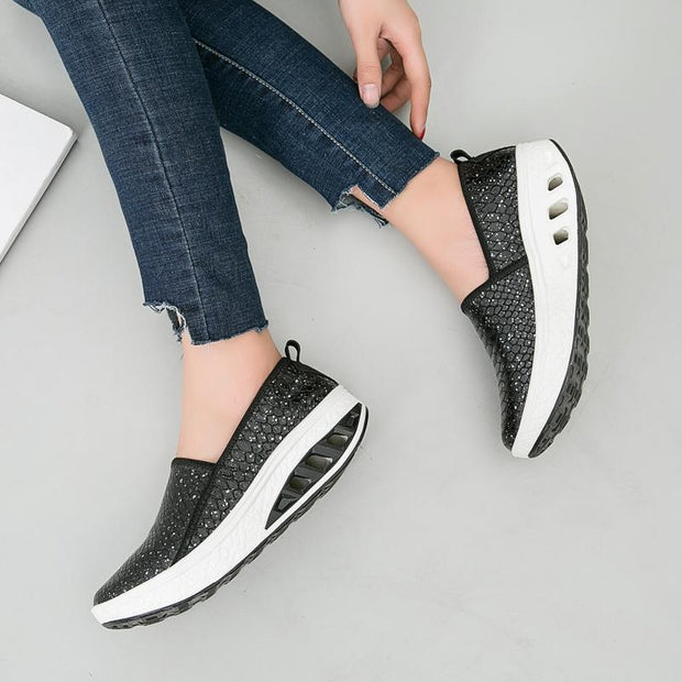 Women Platform Shoes Peas Shoes Shaking Casual Mother Loafer 132573