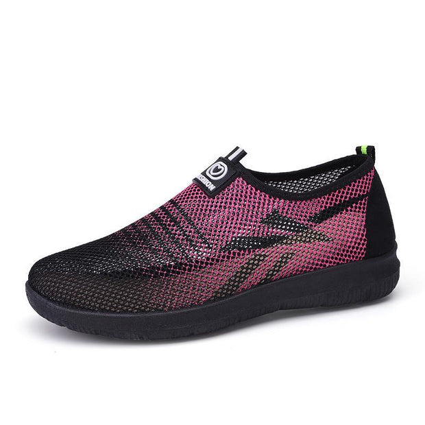 Women's comfortable fashion, versatile wear-resistant breathable soft bottom sports shoes 132952