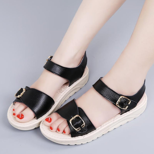 Women's fashion and comfortable Korean version of the fresh casual flat sandals