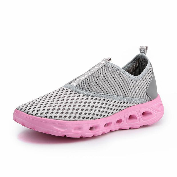 Women's Mesh Flats New Lovers Shoes Breathable Network Platform Shoes Men Summer Loafers
