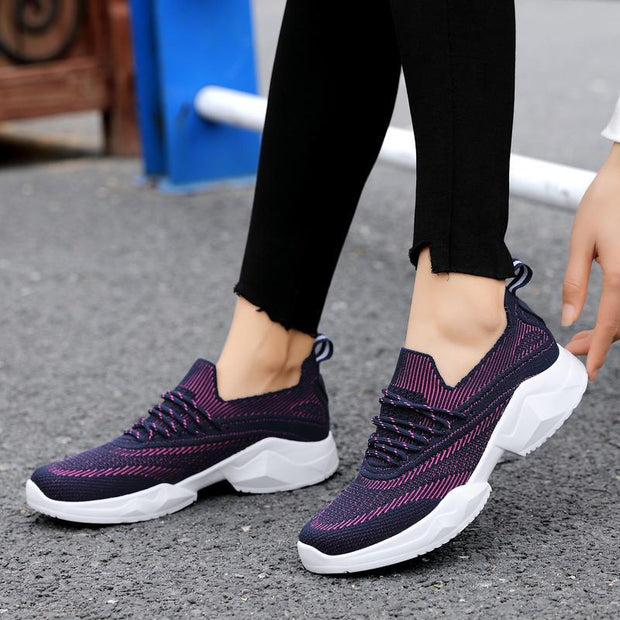 Ms. Flying Weaving Increases Lightweight Summer Casual Mesh Shoes 134131