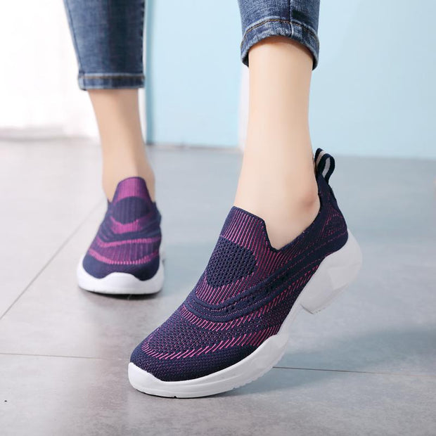 Ms. Flying Weaving Increases Lightweight Summer Casual Mesh Shoes 134128