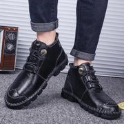 Men's Hand Stitching Casual Large Size Shoes