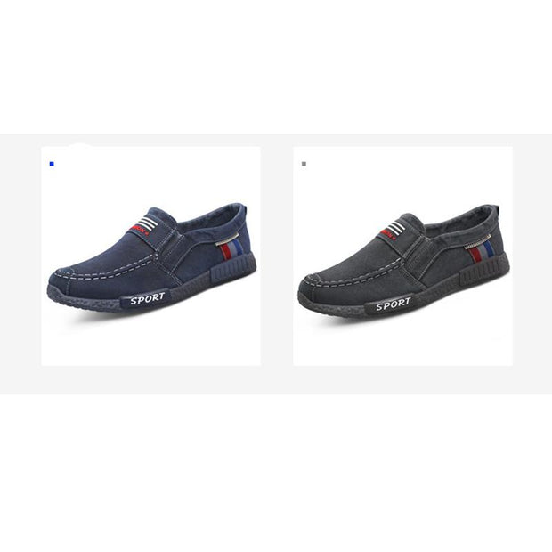 Men's Deodorant Soft Bottom Old Beijing Canvas Cloth Low-Cut Flats