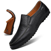 Men's All Seasons Genuine Leather walking peas shoes soft lazy shoes