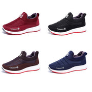 138412 Women's winter new plus velvet warm one pedal waterproof middle-aged walking shoes