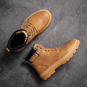 Men work boots magic stick with Martin boots to keep warm and comfortable in winter