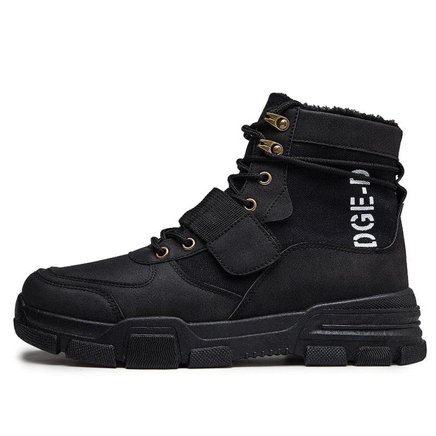 Men's new plus velvet Martin boots high to help men's shoes retro cotton shoes