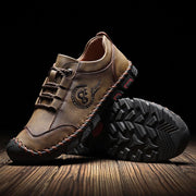 Men casual comfortable breathe freely hand stitching shoes