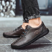 Men retro casual shoes comfortable handmade leather shoes