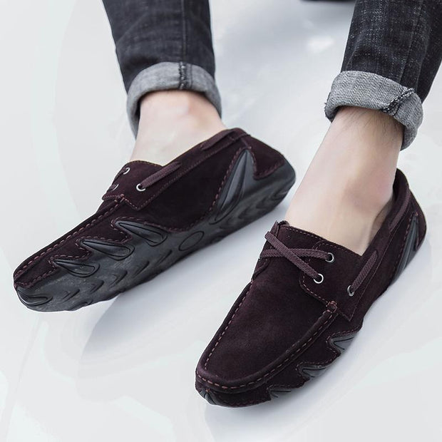 Men's leisure breathable leather shoes casual shoes