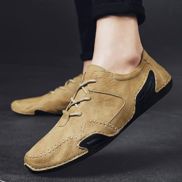 Men's casual breathable casual shoe handmade leather shoes