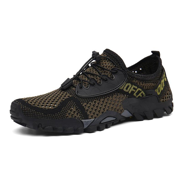 Men's fly knitted outdoor mesh hiking shoes water shoes