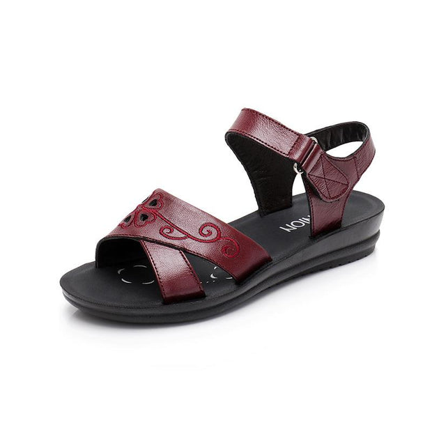 Summer new mother sandals comfortable soft bottom middle-aged female sandals  134527