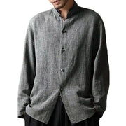 Plus Size L-5XL Men's Casual Collar Loose Cotton Shirts