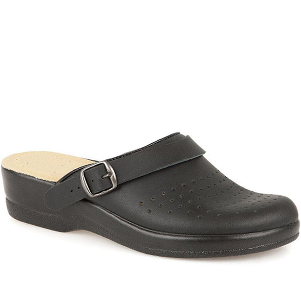 Women's Coated Leather Anatomic Work Clog Mule