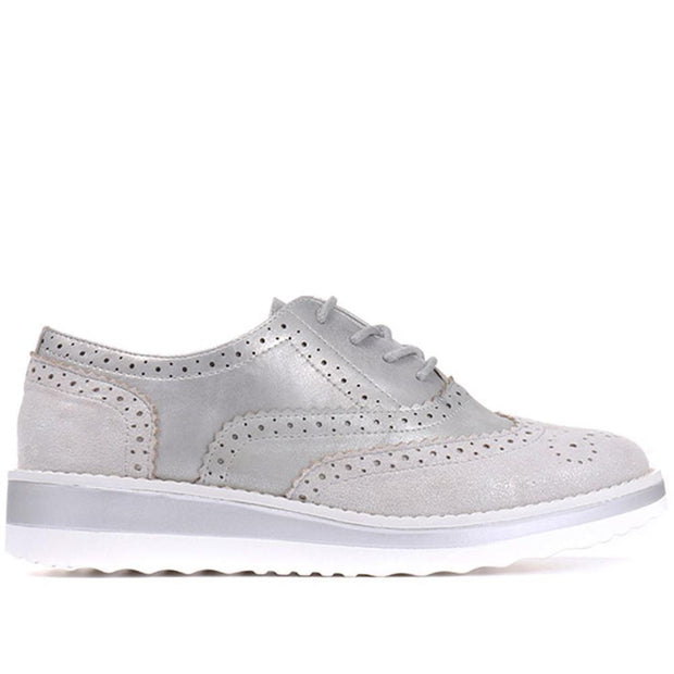 Women's Lightweight Metallic Brogue sneaker