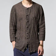 Men Casual Solid Color Button Up 100% Cotton Thin Shirts