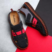 Men's casual breathable Velcro sandals leather sandals