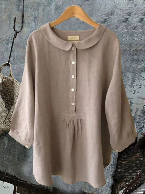 Women's Summer Casual Long Sleeve Sweet Solid Blouse