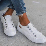 Women's Casual Slip On Comfy Flat Canvas Sneakers