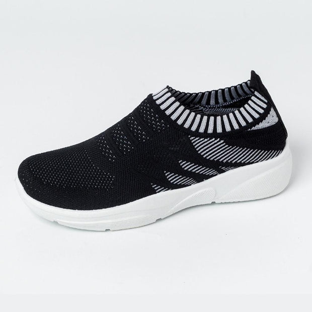 Women's flyknit anti-skid lazy lightweight stretch colored casual shoes