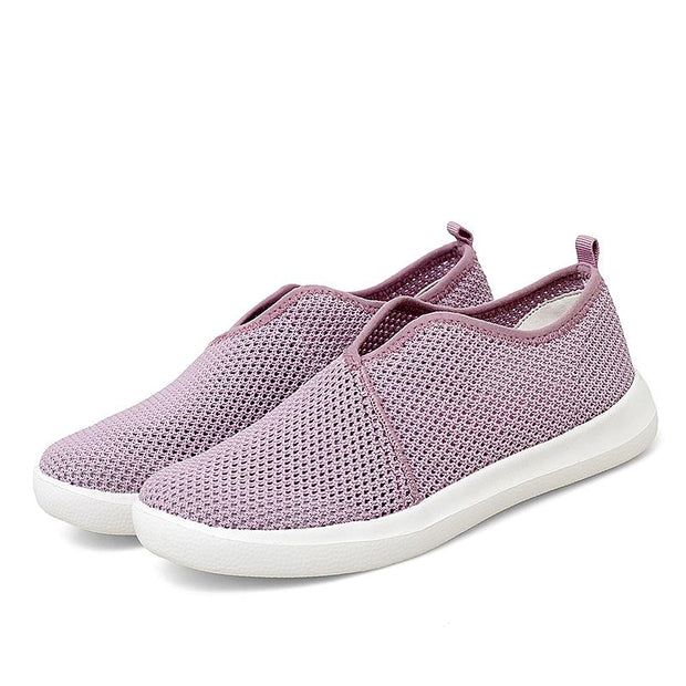 Women's Breathable Hollow Fashion Slip On Sneakers