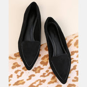Women's PU Stitch Pointy Flats
