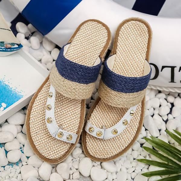 Women's Casual Beach Woven Slipper