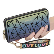 Women's Leather Wallet  Female Zipper Clutch Wallet