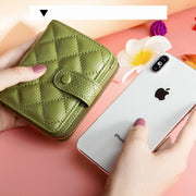 Genuine Leather Trifold Multi-Slot Wallet