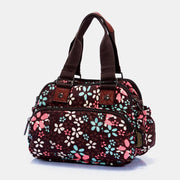 Multi-Compartment Floral Printed Handbag Crossbody Bag