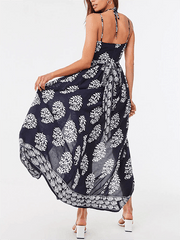 Women's Baroque Print Cami Maxi Dress