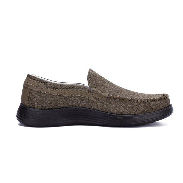 Men's Breathable Fabric Comfy Soft Slip On Casual Shoes