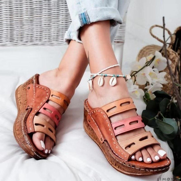 Women's Fashion Vintage Wedge Sandals