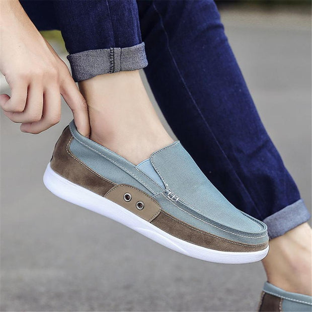 Men's Non-leather Casual Canvas Breathable Shoes