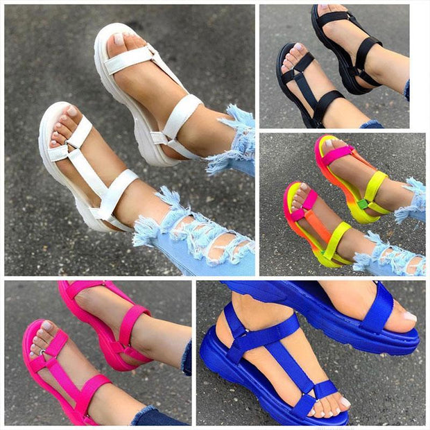 Women's Fashion Largr Size Many Color Cross-strap Sandals