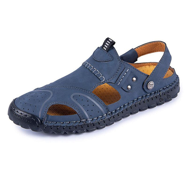 Men's  Leather Non Slip Soft Sole Casual Sandals