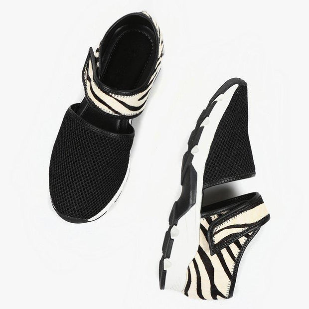 Women's Lace Up Breathable Mesh Seakers Shoes