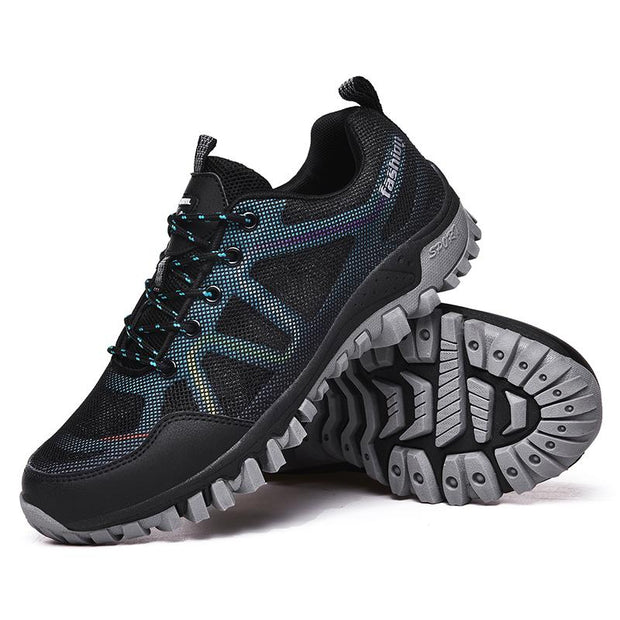 Men's Outdoor Mesh Lace Up Climbing Hiking Shoes