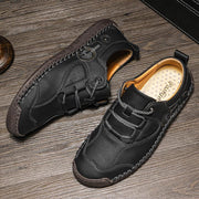 Men Comfort Microfiber Leather Hand Stitching Soft Casual Shoes