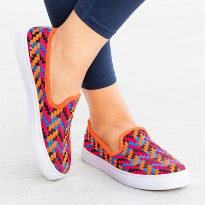 Women's Colorful Woven Sneakers