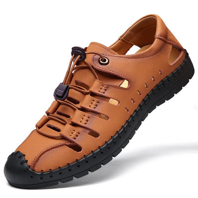 Men's Leather Outdoor Hand Stitched Roman Breathable Sandals