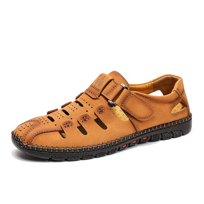 Men's Casual Hand-stitching Leather Breathable Shoes