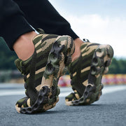 Women & Man Flyknit Camouflage Breathable Walking Shoes Sneakers For Couple