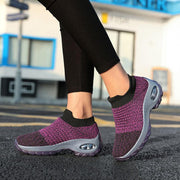 Women's Outdoor Flyknit Breathable Elastic Band Hiking Shoes