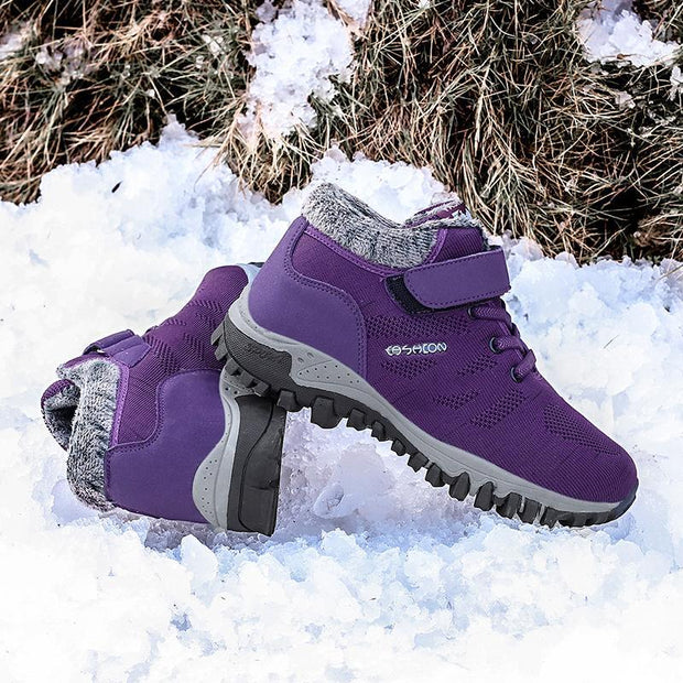 Winter women snow boots women warm push ankle boots female high wedge waterproof Boots shoes 115894