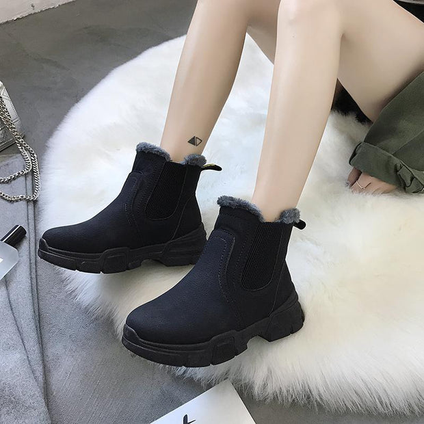 Women's Winter Plus Velvet Martin Boots Snow Boots Fashion Warm High Shoes 115902