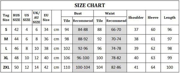 summer striped dress size chart
