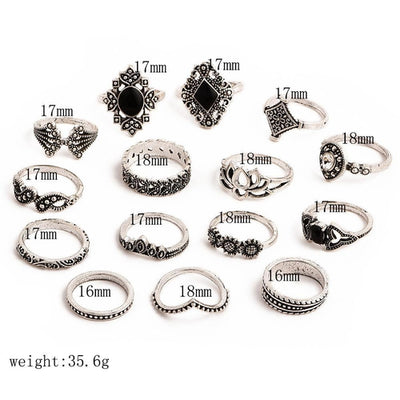 15 PCS Gypsy Ring Set